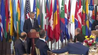 President Obama Attends a Luncheon