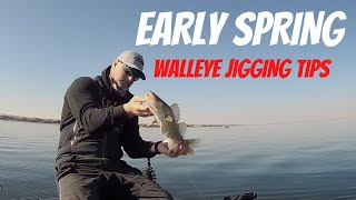 How To Pointers on Jigging Up Early Spring Walleyes