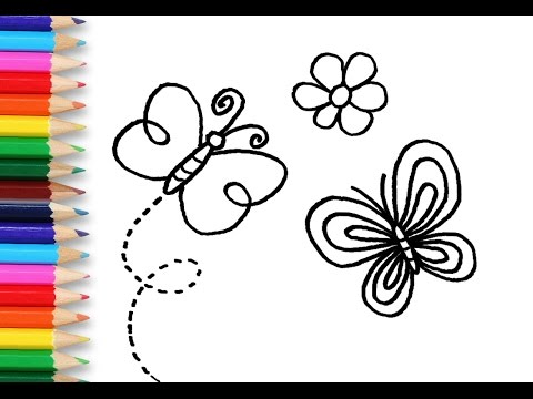 drawing and coloring for kids butterfly coloring book pages for children - Butterfly Coloring Book