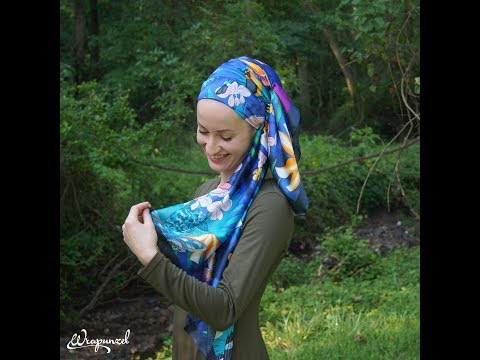 Wrapunzel's Serene Silk Scarf: Andrea's Photoshoot Wrap!