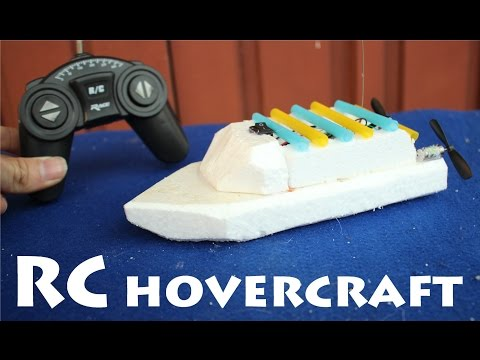 How To Make A Remote Control Hovercraft (RC Boat)