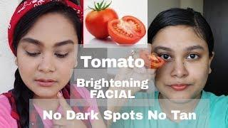 TOMATO Skin Whitening Facial | HOW TO REMOVE DARK SPOTS PIGMENTATION NATURALLY