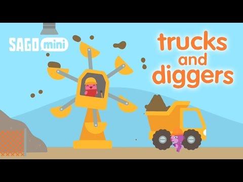การ์ตูนรถก่อสร้างสำหรับเด็ก รถแม็คโคร | รถดั้ม | รถตักดิน | รถเครน | รถเกรด