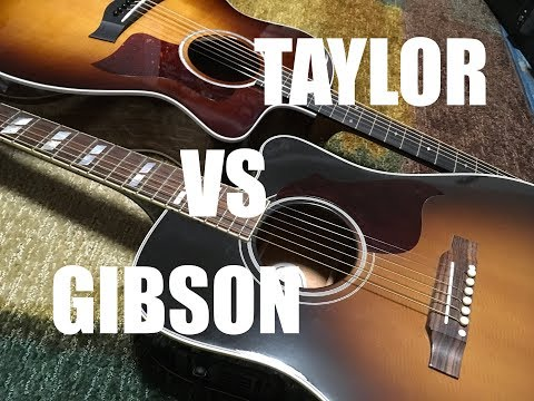 Taylor 214ce vs Gibson Hummingbird Pro (Direct and Room mic'd)