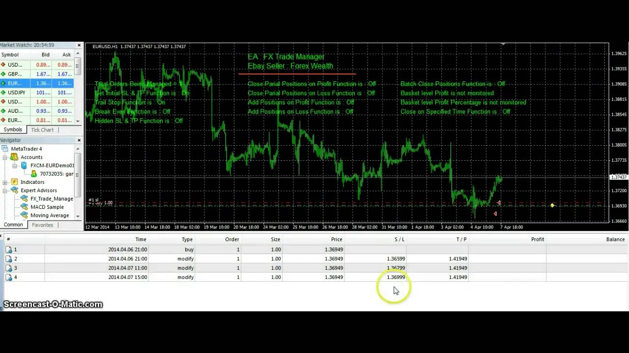 Forex Trading for Beginners - Automatic Trailing Stop - YouTube