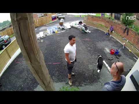 Resin driveway time lapse video