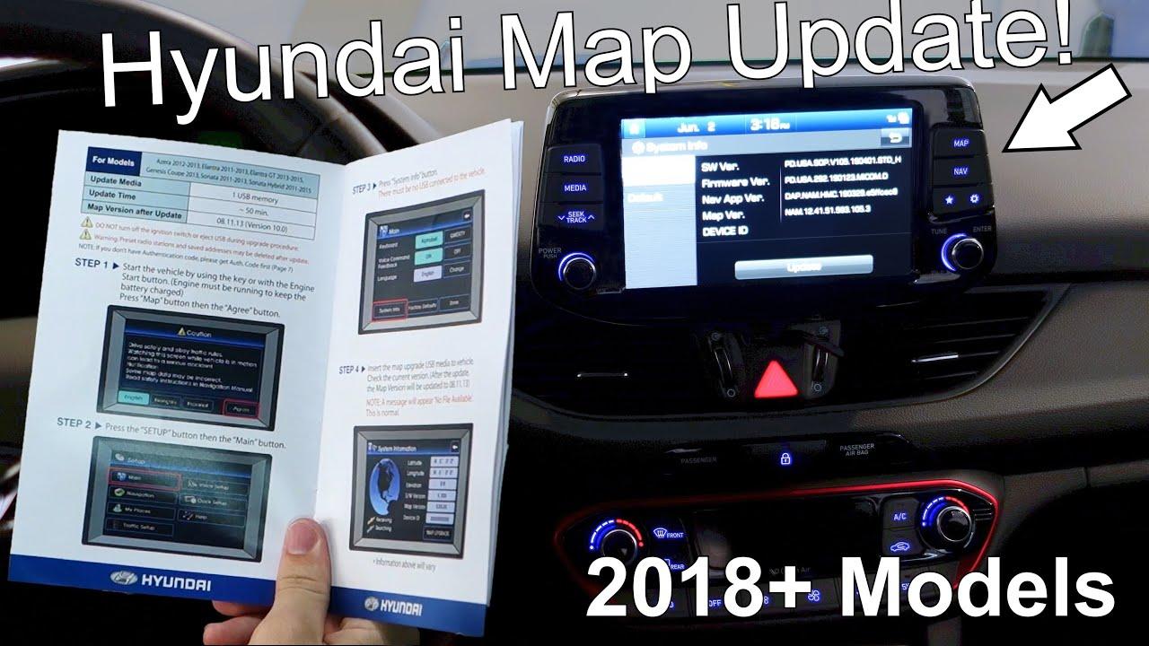 How To Update Maps On Hyundai Vehicles Hyundai Mapcare Youtube