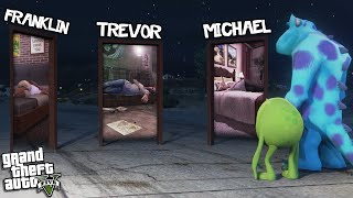 MONSTERS INC is SCARING EVERYONE (GTA 5 Mods)