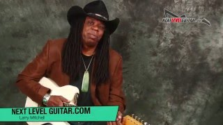 Guitar Lesson play rock blues rhythms n licks together with Larry Mitchell soloing licks scales