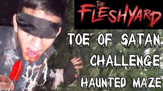 The Toe Of Satan Challenge Inside Halloween Haunted Maze - 9 Million Scoville Of Heat