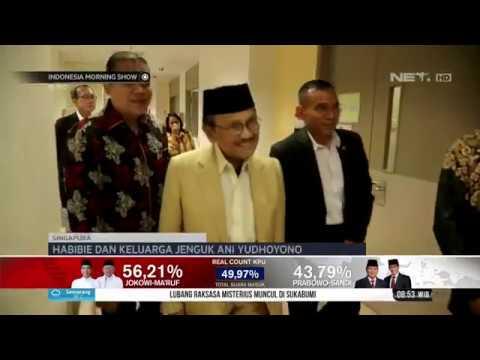 Presiden ke-3 RI, BJ Habibie dan Keluarga Jenguk Ani Yudhoyono