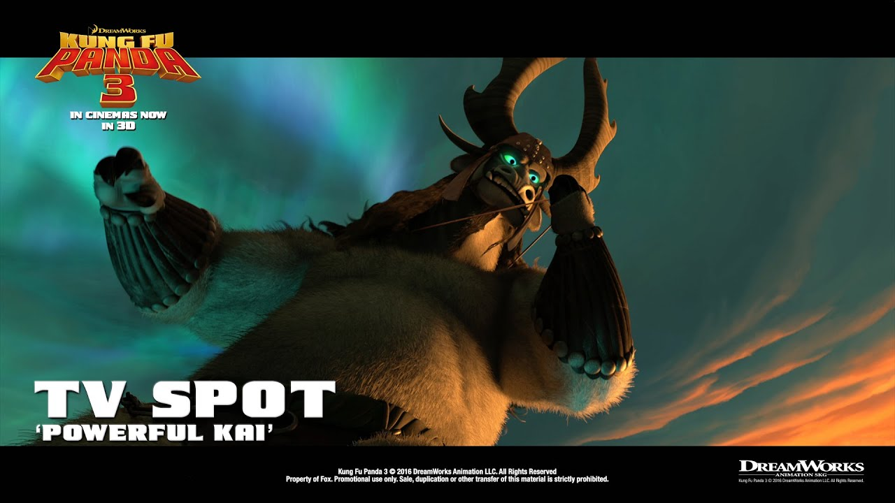 kung fu panda 3 ['powerful kai' tv spot in hd (1080p)] - youtube