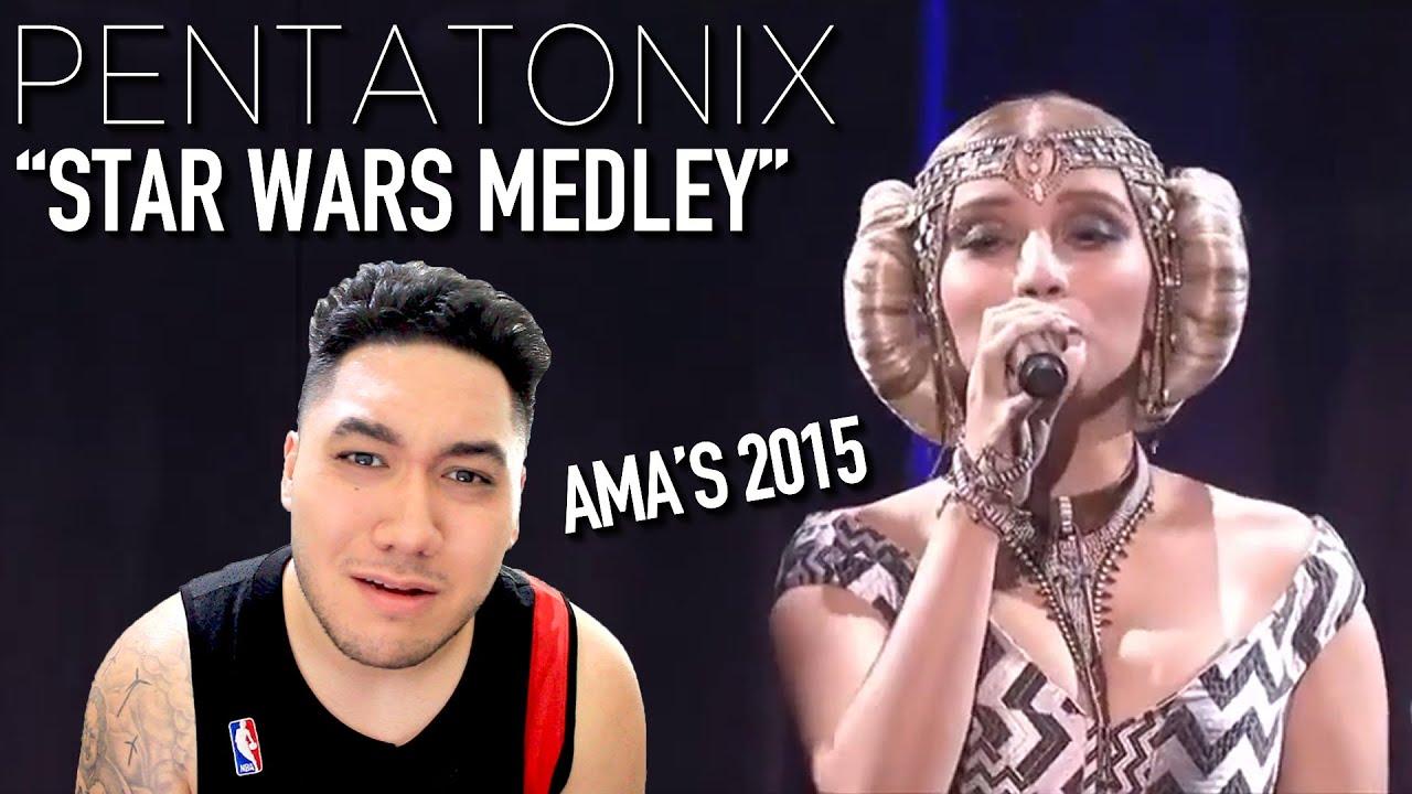 Candid Camera Star Wars : Pentatonix star wars medley amas 2015 reaction!!! youtube