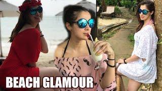 ఇదేం క్లీవేజ్ బాబోయ్!Khaidi Heroine Laxmi Rai Beach Glamour
