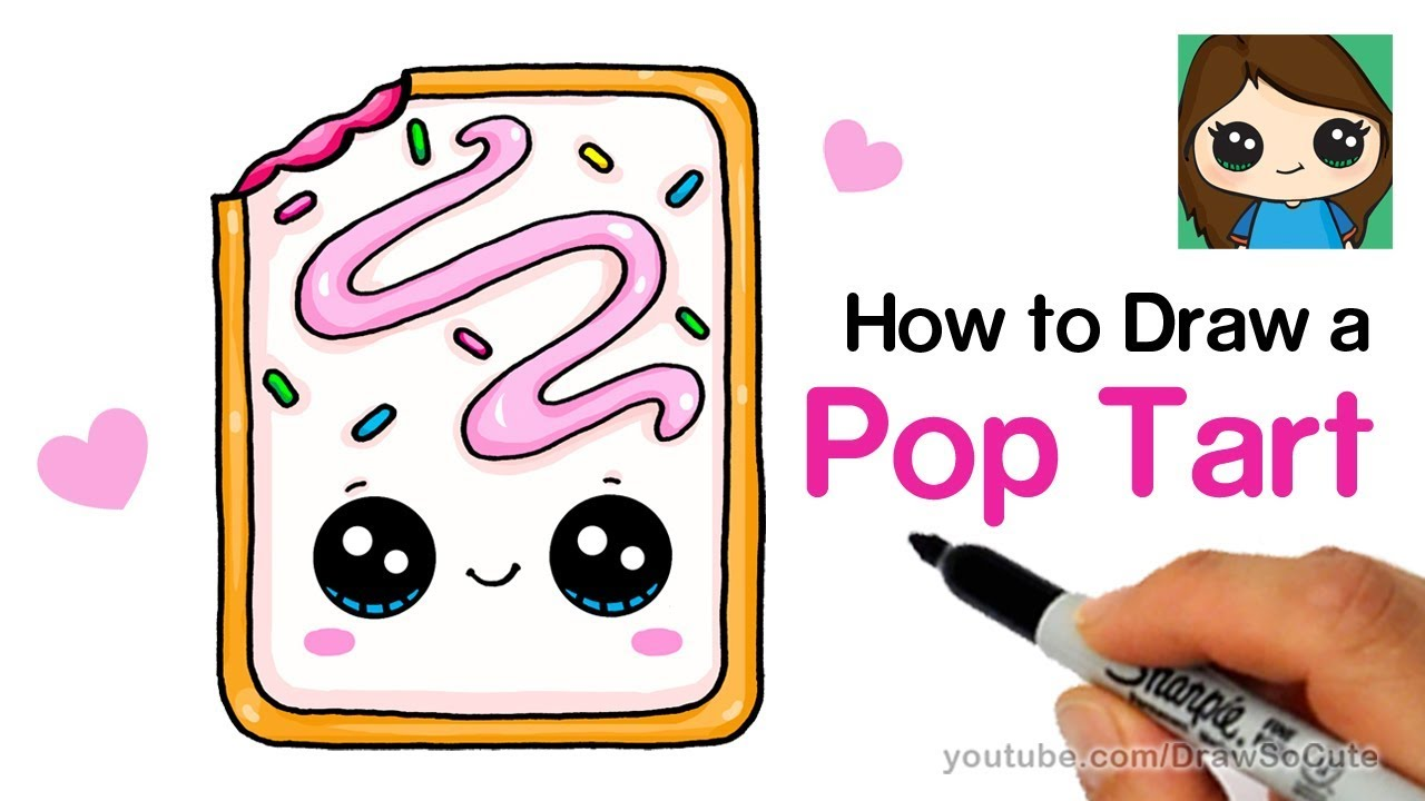 how to draw a cute pop tart easy