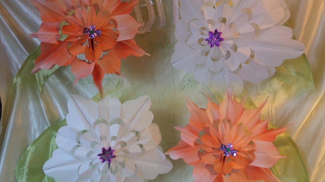 DIY: Blumen & Blüten aus Papier-Frühstückstüten BASTELN & FÄRBEN von ...