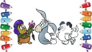 Винни-Пух  Пятачок  Иа раскраска для детей новая серия раскраски