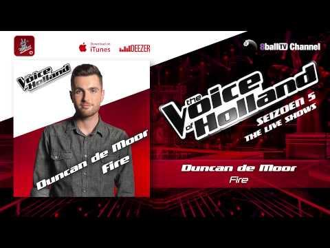 Duncan de Moor - Fire (The voice of Holland 2014 Live show 3 Audio)