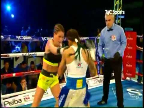 Maria Roman vs  Carolina Duer  IBF World Female Bantamweight Title  8417