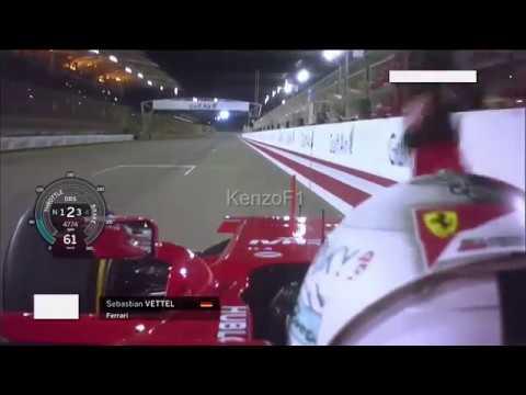 Sebastian Vettel wins the Bahrain GP 2017 - Last Lap Onboard