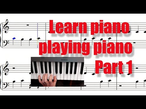 Learn piano playing piano in 10 min (Part 1). Your first piano lesson. Apprendre le piano