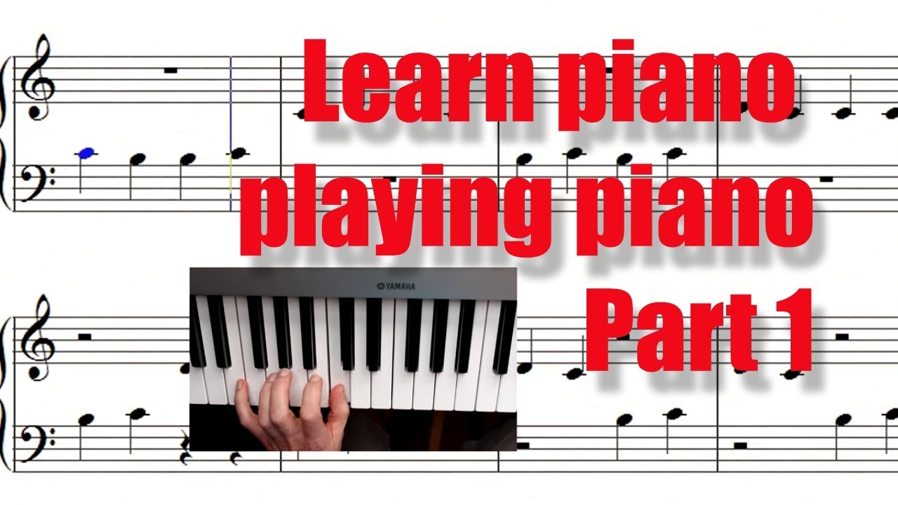 Learn piano playing piano in 10 min (Part 1). Your first ...