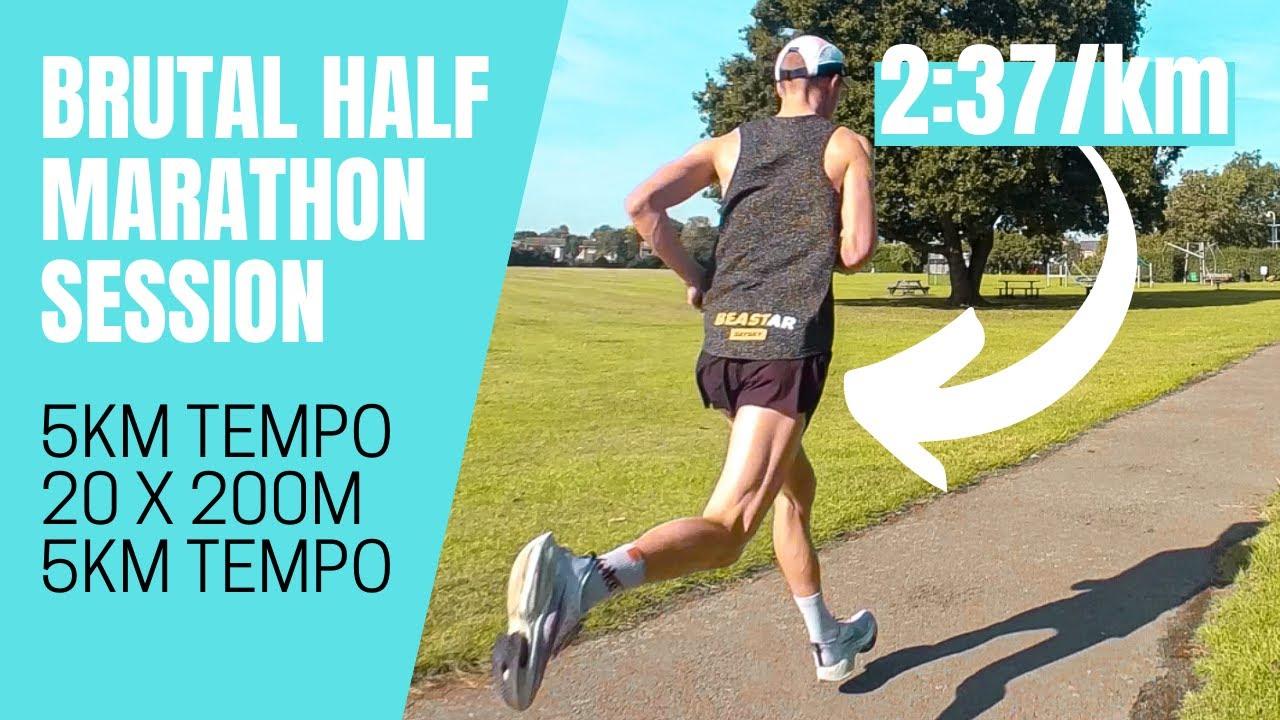 Download BRUTAL HALF MARATHON SESSION (5k tempo, 20x 400m, 5k tempo)