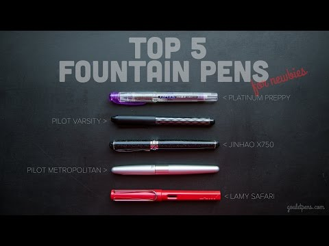 Brian's Top 5 Favorite Fountain Pens for Newbies- Ink Nouveau