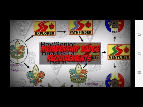 Membership Badge Requirements     Iskawting #advancement #scouting #rankup #scouting