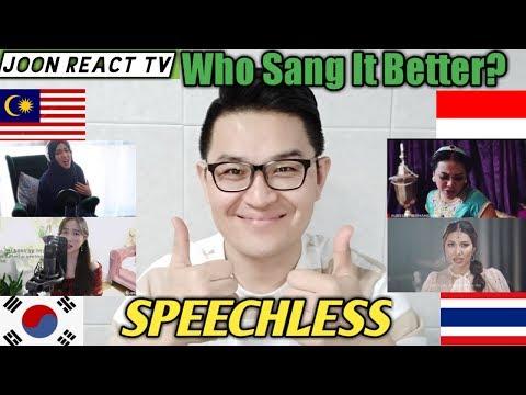 SPEECHLESS (NAOMI SCOTT) // WHO SANG IT BETTER?  INDONESIA vs MALAYSIA vs KOREA vs THAILAND?