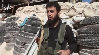 شاهد معبر كراج الحجز قرب المنطقة المعلن عنها لخروج المدنيين في حلب