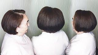 Прическа на КОРОТКИЕ и тонкие волосы.Укладка БЕЗ Фена для женщин за 50. Hairstyle for Short Hair