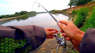 Поставил БЕЗОТКАЗНУЮ ПРИМАНКУ и СРАЗУ ПОЙМАЛ! Рыбалка на спиннинг на сломе погоды! Ловля жереха!