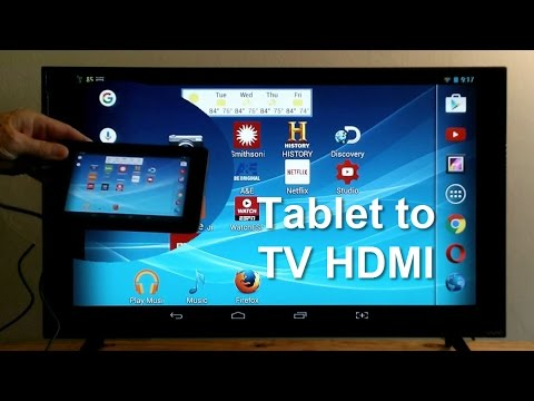 How To Connect Tablet To TV Using HDMI - Easy & Fun!!!