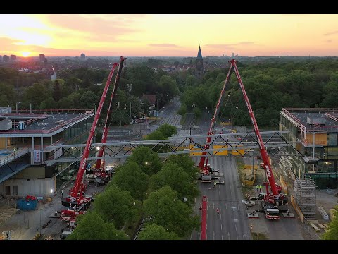 Liebherr - Complex night shift for six Liebherr mobile cranes