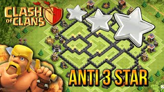"""ANTI 3 STAR!"" - Town Hall 8 DEFENSE STRATEGY (CoC TH8) BEST Defense Base Layout Defense 2015"