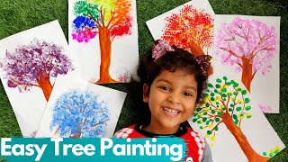 Creative ways to paint trees | Easy Tree Painting for Kids | Easy painting ideas for kids