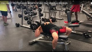 Re: ScottHermanFitness - FULL CHEST ROUTINE! MORE GROWTH IN LESS TIME!