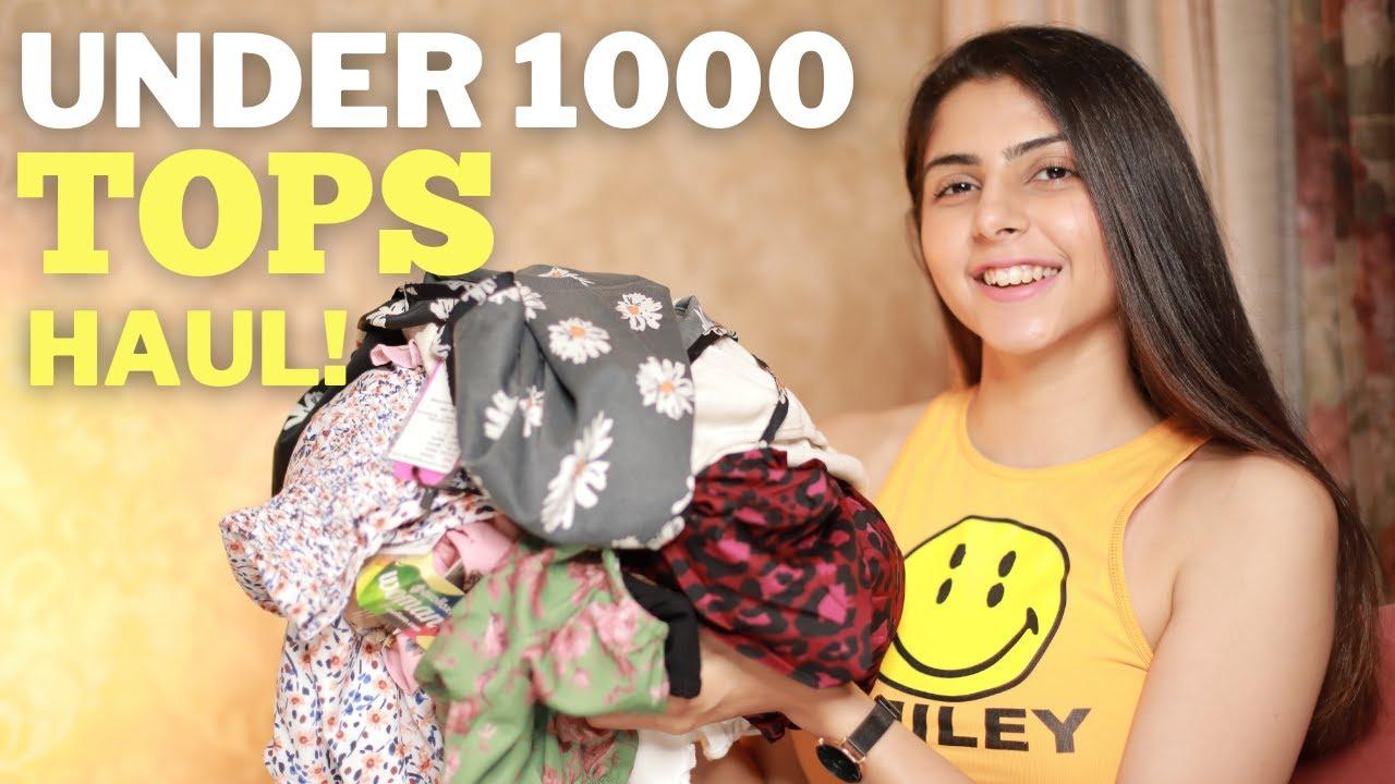 *HUGE* Under 1000 TOPS HAUL!   Affordable Myntra Tops