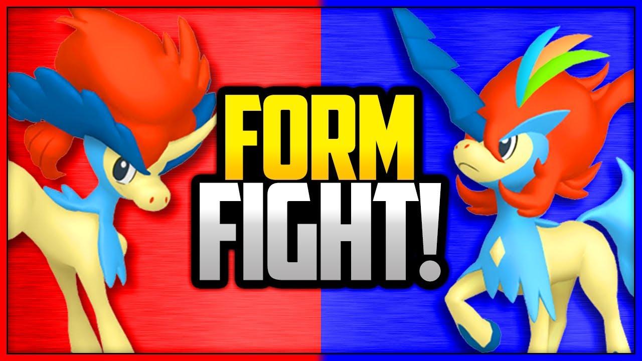 Keldeo Ordinary Form vs Resolute Form | Pokémon Form Fight ...