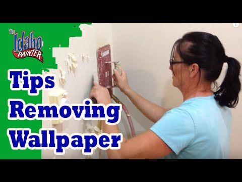Removing Wallpaper Using A Steamer. Wallpaper Removal ...