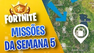 GAS STATION? TIPS FOR ACCOMPLISHING ALL MISSIONS OF THE WEEK 5-FORTNITE ‹ VINOK4 › SEASON 3