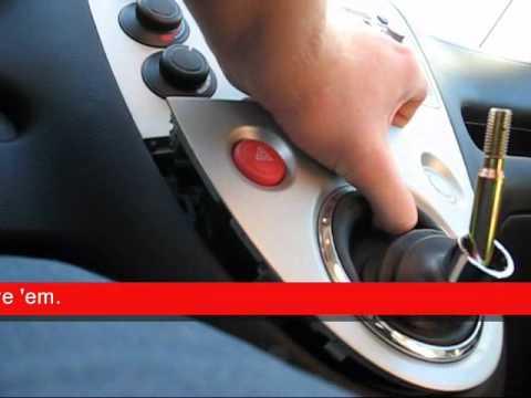 Honda Civic Si shift boot removal EP3 - YouTube