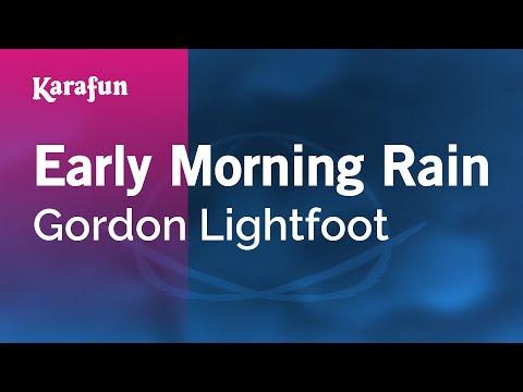 Karaoke Early Morning Rain - Gordon Lightfoot *
