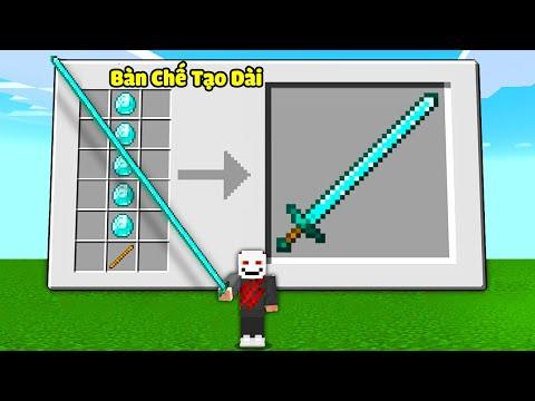Zeros Minecraft Nhưng Bạn Chế Tạo Dụng Cụ Siêu Dài