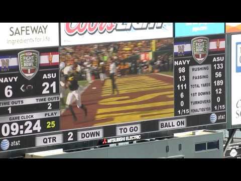 Keenan Reynolds to Matt Aiken 3-yard touchdown pass Navy vs. Arizona St Kraft Fight Hunger Bowl 2012