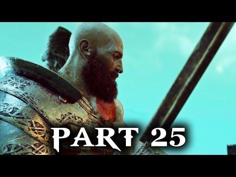 God of War Gameplay Walkthrough Part 25 - ESCAPE FROM HELHEIM  (PS4 2018)