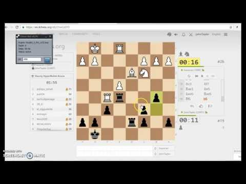 Chess bot playing hyperbullet game at Lichess org by Chess Bot