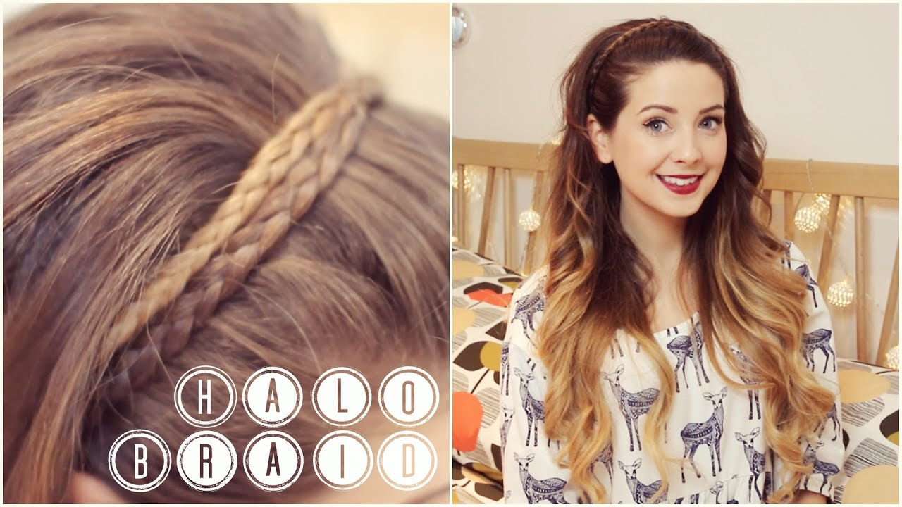 How To Halo Braid Zoella YouTube - Hairstyles for short hair zoella