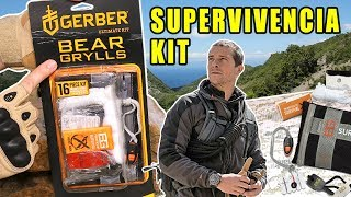 PRUEBO KIT DE SUPERVIVENCIA DE BEAR GRYLLS de GERBER